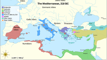 Empires of the Mediterranean, 218 BCE.