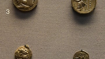 Coins from Macedonia and Sogdia Copying Alexander's Coinage