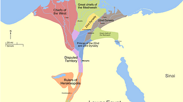 Map of the Third Intermediate Period