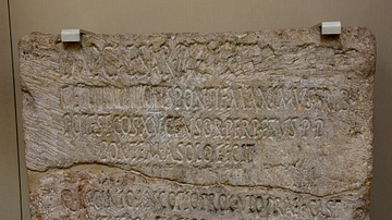 Latin inscription with Damnation Memoriae of Domitian