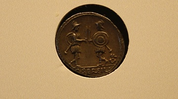 Roman Coin with Soldiers
