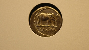 Coin of Julius Caesar with Elephant