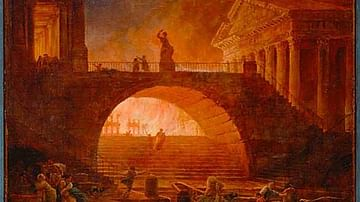 The Great Fire of Rome, 64 CE.