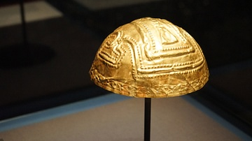 Colombian Gold Helmet