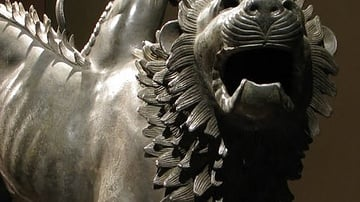 Detail, Chimera of Arezzo