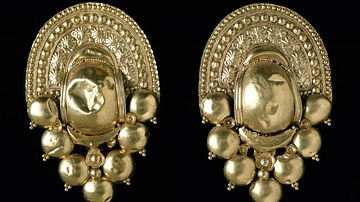 Gold Etruscan Earrings, Populonia