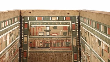 Coffin Decorated with the Book of Two Ways