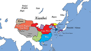 Three Kingdoms Period of China and the Rise of Xianbei in the year 229 CE
