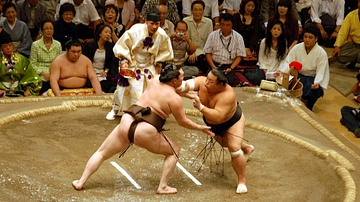 A Sumo Wrestling Bout