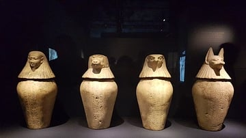 Canopic Jars of Neskhons (Illustration) - Ancient History ...