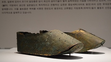 Japanese Gilt Bronze Shoes