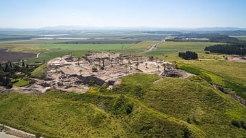 Aerial View of Megiddo