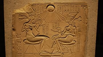 Akhenaten and the Royal Family Blessed by Aten