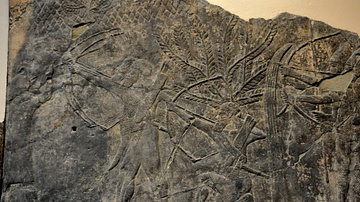 Assyrian Soldiers Attacking the City of -alammu
