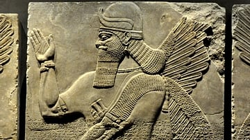 Human-headed and Winged Apkallu from Nimrud