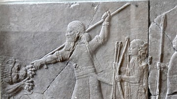 Assyrian Lion Hunt Relief, Nineveh