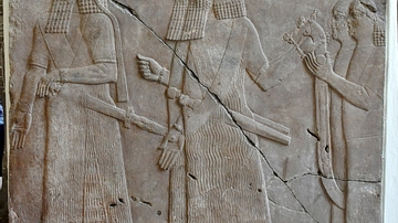Assyrian Courtiers Carrying the King's Throne