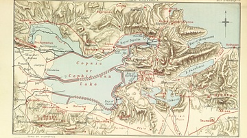 Pausanias' Description of Greece Map