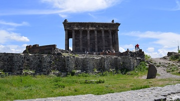 Side View of Garni Temple in Armenia
