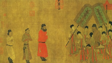 An Audience with Taizong by Yan Liben