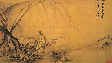 On a Mountain Path in Spring  (Detail)