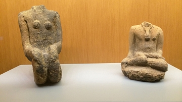 Fragments of Two Seated Figures from Mali