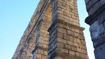 View of the Roman Aqueduct in Segovia, Spain