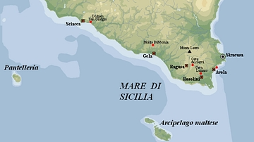 Map of Sicilian Dolmens
