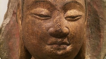Head of a Bodhisattva from China's Sui Dynasty