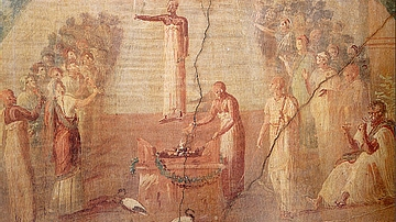 Roman Mural of Isiac Cult