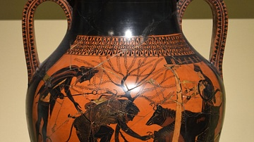 Black Figured Greek Amphora