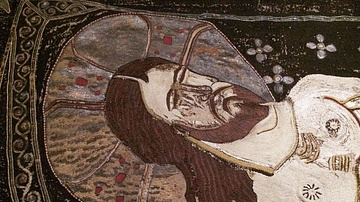 Detail of a Holy Shroud from Georgia