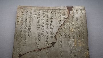 Japanese Tablet with Sutra Inscriptions