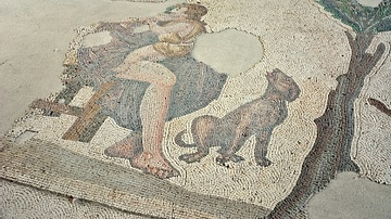Mother & Dog, Byzantine Mosaic
