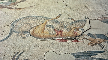 Leopards Hunting Deer, Byzantine Mosaic