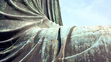 Close-up of the Great Buddha of Kamakura