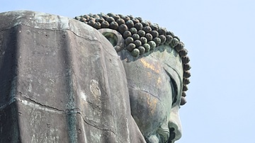 Face of the Great Buddha of Kamakura