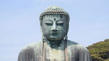 The Close-up of the Great Buddha of Kamakura