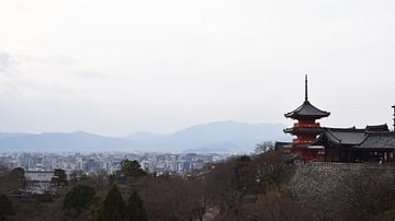 View of Kiyomizu-dera Temple in Kyoto