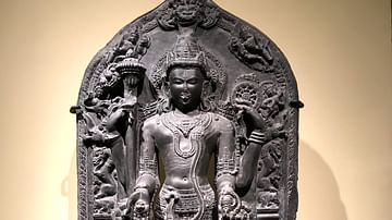 Vishnu with Lakshmi and Saravati
