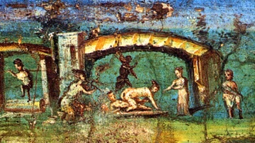 Fresco of a Love Scene on the Nile