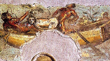 Roman Fresco of a Love Scene on the Nile