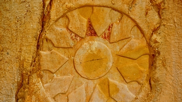 Star Roundel, Rock-Cut Tombs of Qizqapan