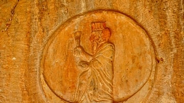 God Roundel, Rock-Cut Tombs of Qizqapan