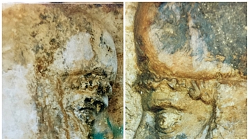 Facial Details, The Rock-Cut Tombs of Qizqapan