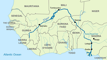 Map of Niger River