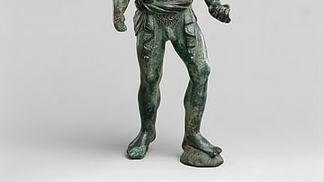 Hellenistic Bronze Statuette of an Aethiopian Youth