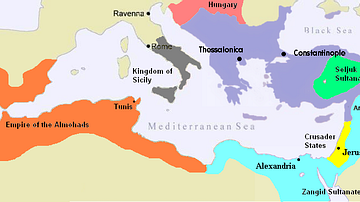 Byzantine Empire c. 1180 CE