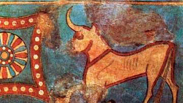 Urartu Bull Wall Painting