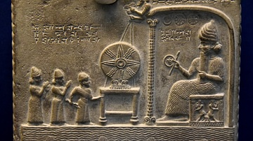 Detail of the Sun God Tablet from Sippar